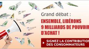 Le Grand Débat : Signez «la Contribution des consommateurs»